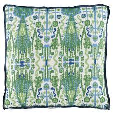 d921 kelly green ikat printed throw pillow