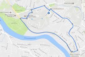 wvu evansdale map 39 beechurst express