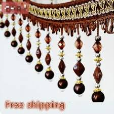 Bead Trim For Curtains Luxury Beaded Fringe Trim Lace Tassel For Curtain Sofa Pillow