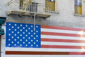 free stock photo of patriotic wall mural photoeverywhere patriotic wall mural of the stars and stripes american national flag painted on the exterior wall