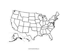 this printable map of the united states of america has blank lines