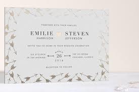 minted wedding invitations arrow frame foil pressed wedding invitations by lehan veenker minted
