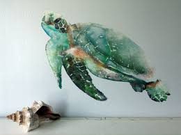 How To Clean Flat Paint Walls by Sea Turtle Wall Decal Watercolor Fabric Wall Sticker Not