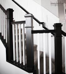 Stair Banister Tips For Painting Stair Balusters Honeybear Lane