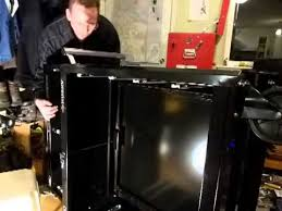 husky 66 in w 24 in d 12 drawer heavy duty mobile workbench husky tool chest crashes guy youtube