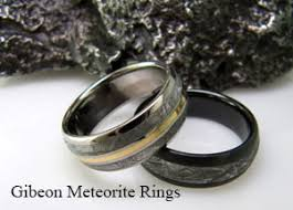 Wedding Ring Metals by Meteorite Rings Titanium Ring Co Meteorite Rings