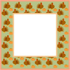 thanksgiving borders and frames thanksgiving frame with turkey 1