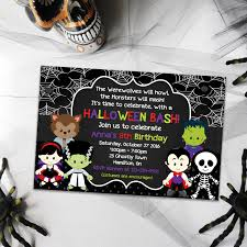 Halloween Birthday Invitations Printable Birthday Halloween Invitation Party Invitations Printable