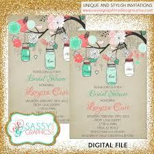 mint to be bridal shower rustic bridal shower invitation bridal shower invite jar
