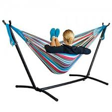 sundale outdoor 15 feet hammock stand coated tri beam steel tube