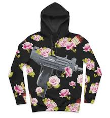 rare uzi floral hoodie u2013 urban attires