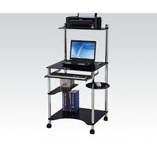 Black And Chrome Computer Desk Computer Desks