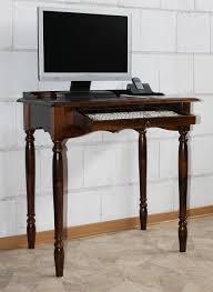 Schreibtisch Holz Schreibtisch Pc Tisch Kolonial Braun Nußbaum Holz Massiv Bei Casa