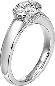 rings setting images Art carved engagement rings and settings png