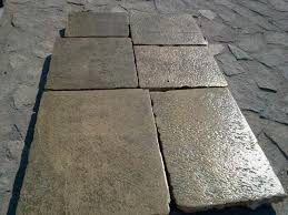 Reclaimed Patio Slabs Pierre De Bourgogne Stock For Sale