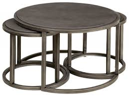Coffee Table With Nesting Stools - round nesting coffee table awesome hammary rotation round cocktail