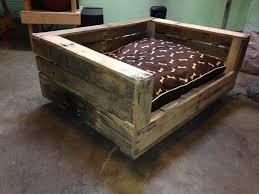 bedroom impressive rustic wood dog bed design ideas pertaining to