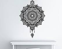 wall art design ideas tapestry decal mandala wall art flower