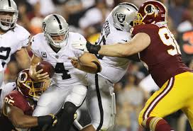 Raiders Flag Football Raiders Offensive Line Opens Wide For Washington In 27 10 Loss