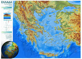 Map Of Greece by Elevation Map Of Greece 1100x785 Mapporn
