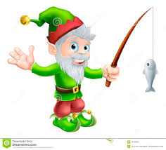 garden gnome with fishing rod stock image image 26748041