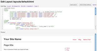 html layout under elefant cms setting up your custom designs