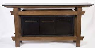 Sideboard Table Sideboard With Beveled Stone Top Architectural Woodcraft