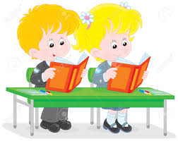 Picture Of Student Sitting At Desk by Reading At Desk Clipart Clipartxtras