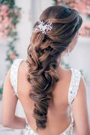 wedding hairstyles down curly for bride inofashionstyle com