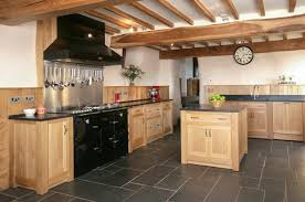 solid wood kitchen built in appliances granite worktop