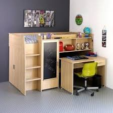 lit avec bureau coulissant lit combiné compact avec armoire intégré bureau coulissant et