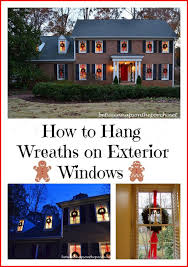 how to hang christmas lights outside windows hang wreaths on exterior windows wreaths window and porch