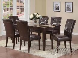 Acme Furniture Dining Room Set Furniture Acme 16650 Faux Marble Top Dining Table Set