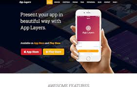 applayers free bootstrap app landing page template graygrids