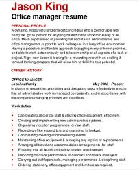 office manager resume 54 manager resumes in pdf free premium templates