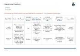 stakeholder document template 28 images stakeholder analysis
