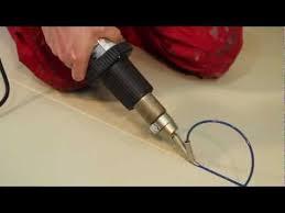 how to heat welding vinyl floor with heat gun air gun
