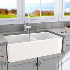 blanco ikon apron sink abia 33 x 18 double basin farmhouse apron kitchen sink reviews
