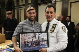 bergen street cyclists thank nypd precinct for protected bike lane