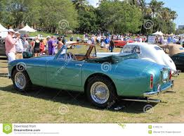 green aston martin convertible classic brit cars in queue editorial image image of curves 47435770