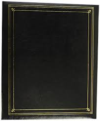 Bound Photo Albums Amazon Com Pioneer Photo Albums 3 Ring Bound Black Leatherette