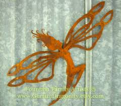 fairy garden art with large dragonfly wings home decor nursery