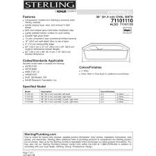 Sterling Bathroom Fixtures by Sterling 71101110 0 Ensemble White Soaking Tubs Tubs U0026 Whirlpools