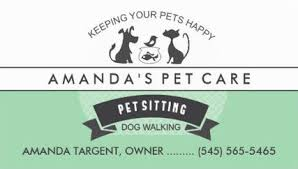 girly pet sitting and pet care business cards girly business cards