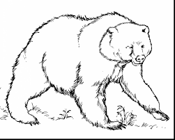 good printable bear coloring pages with bear coloring page
