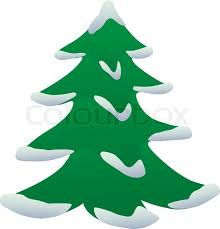 christmas tree with snow vector illustration of christmas tree with snow stock vector