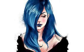 anime music girl wallpaper image girl anime music illustration demi lovato drawing blue hair