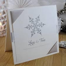 snowflake wedding invitations snowflake festive winter handmade wedding invitations