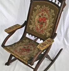 Folding Rocking Chair Antique Eastlake Victorian Folding Rocking Chair Ebth