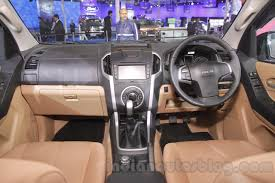 isuzu dmax interior isuzu d max v cross dashboard detail at auto expo 2016 indian